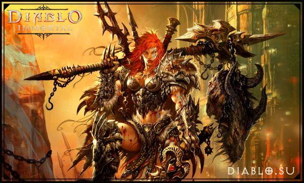 Варвар в Diablo Immortal (девушка)