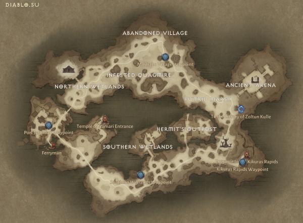 Карта локации Билефен Diablo Immortal