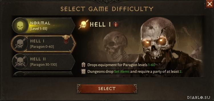 Сложность Ад 1 Diablo Immortal