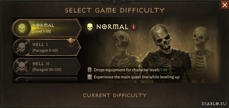 Нормальная сложность Diablo Immortal