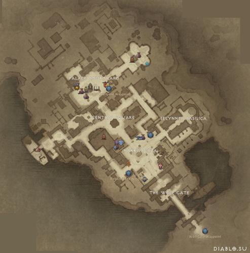 Карта локации Вестмарш