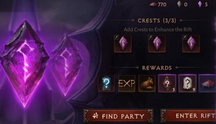 Elder Rift и награда за три легендарных камня