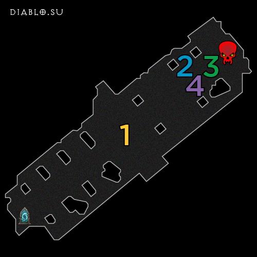 Карта второго этажа Разлома Безумного Короля