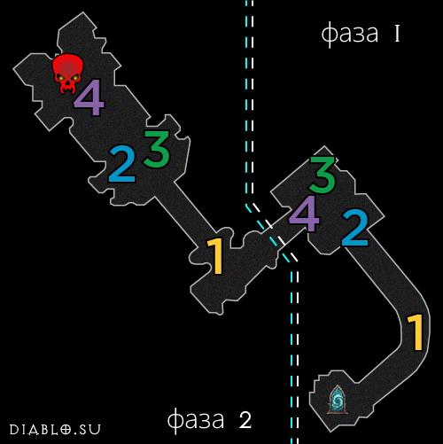 Карта третьего этажа Разлома Безумного Короля