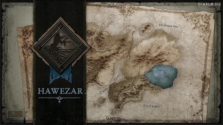 Местоположение Хавезара в Санктуарии - выделено темным
