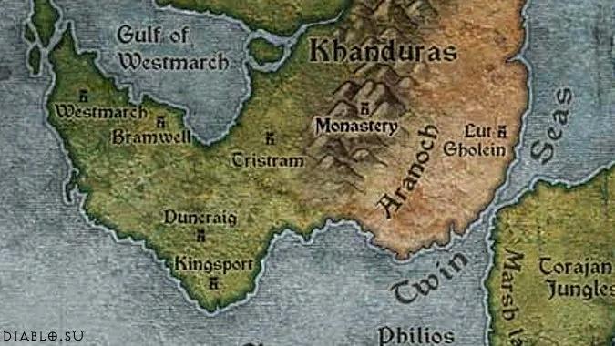 Карта Хандураса во вселенной Диабло
