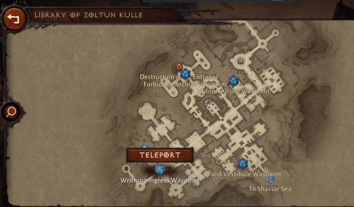Карта локации Библиотека Золтуна Кулла