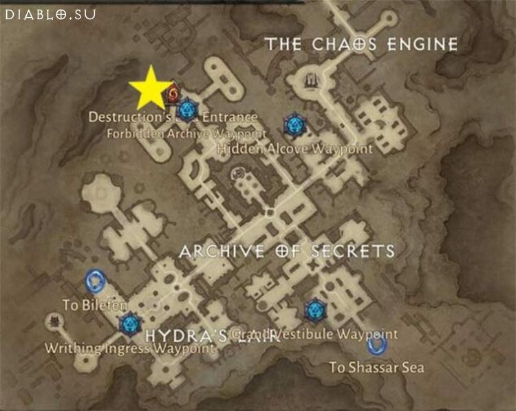 Карта подземелья Конец Разрушения