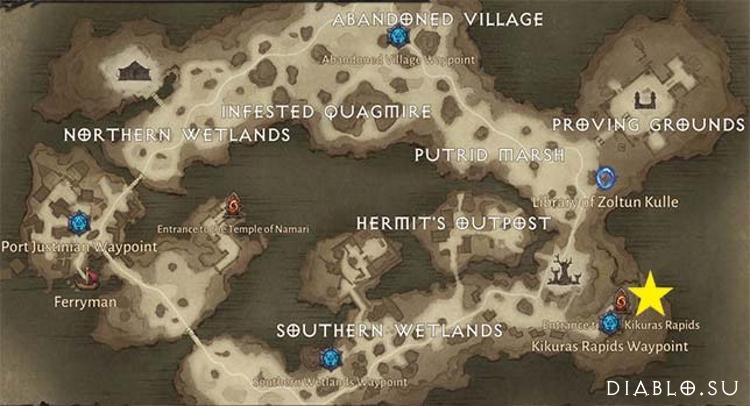 Карта подземелья Пороги Кикуры