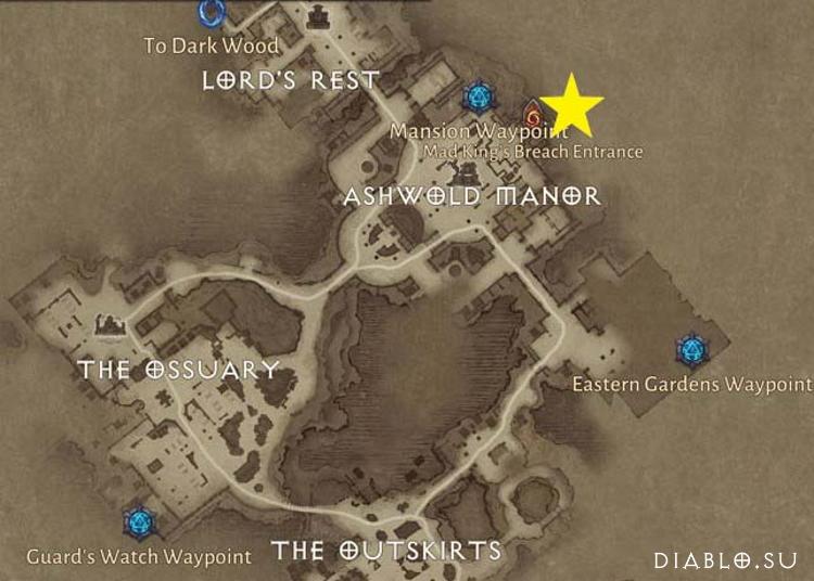 Карта разлома Безумного Короля