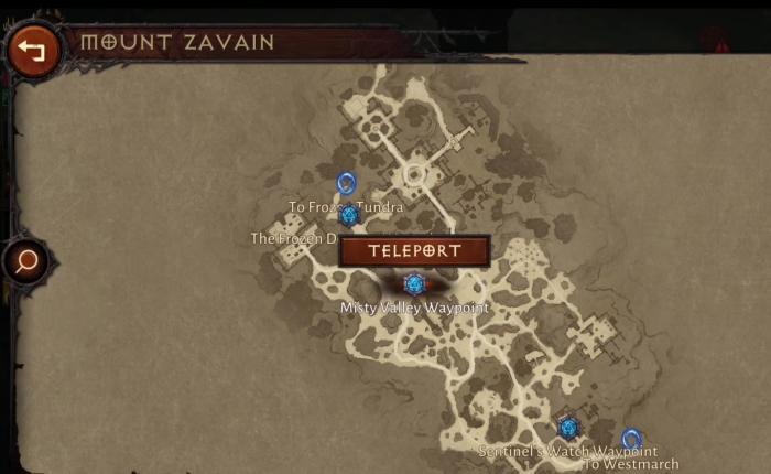 Карта локации Mount Zavain