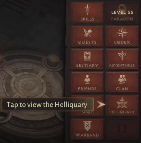Как найти Hellquary в окне игры