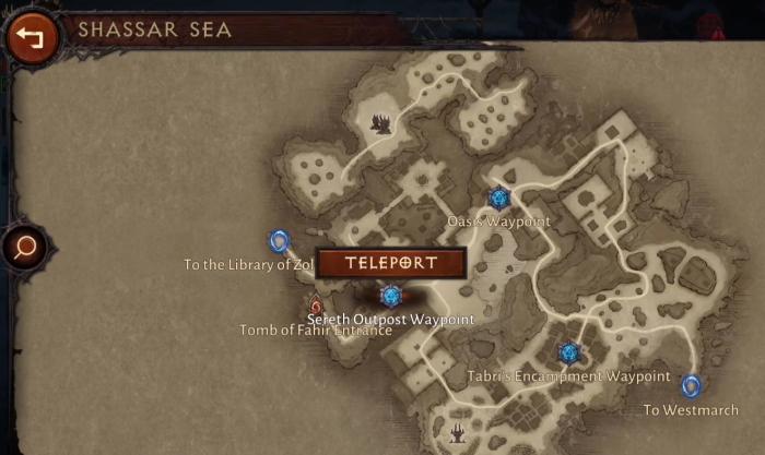 Карта локации Шассарское море