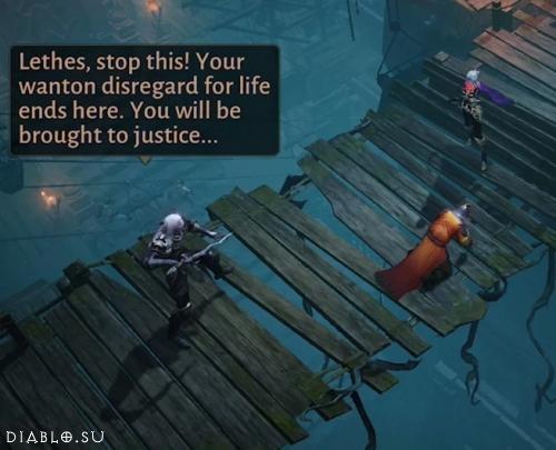 Зул против своей бывшей ученицы - из сюжета игры