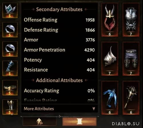 Атрибуты и параметры персонажей в Diablo Immortal