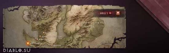 Карты локаций Диабло Иммортал